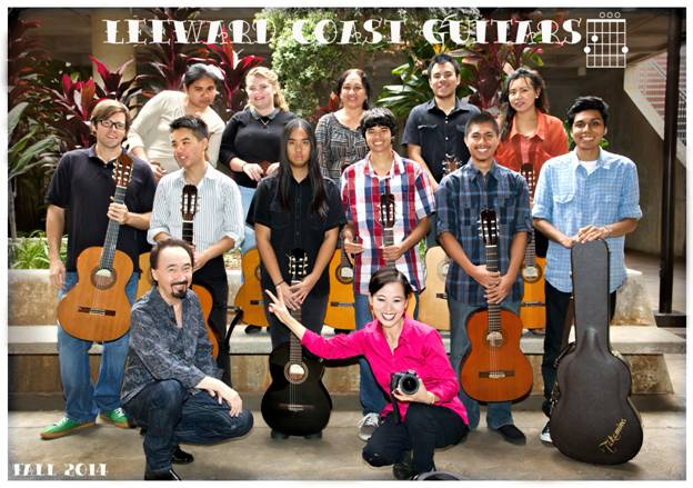 Leeward Coast Guitar members, Fall 2014