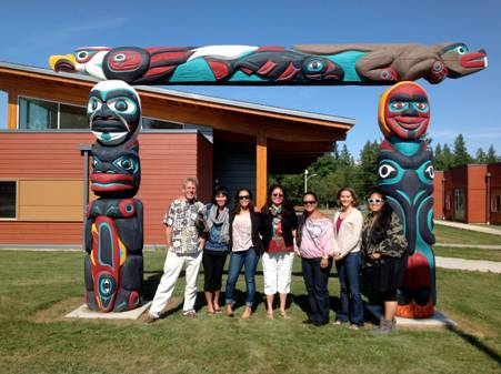 Group photo in front of the Salish Sea Research Center in Bellingham Washington