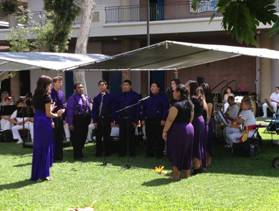 Leeward CC Choral Group performing outside