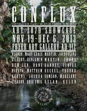 Promotional graphic for the Conflux art display