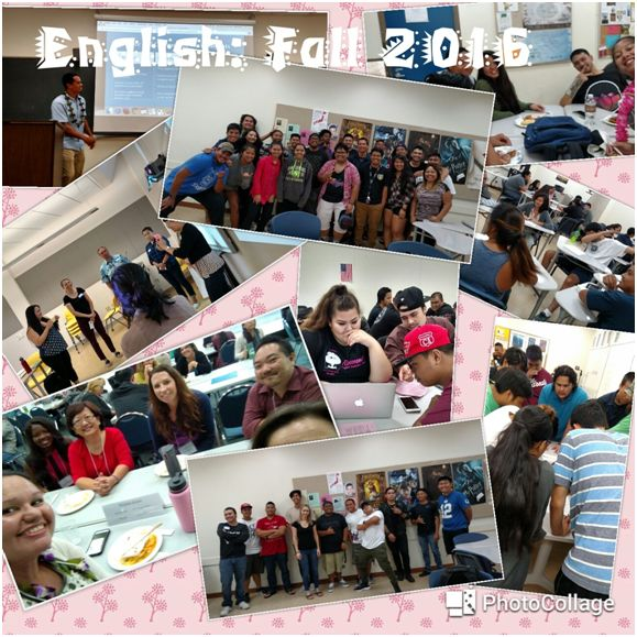 English photo collage