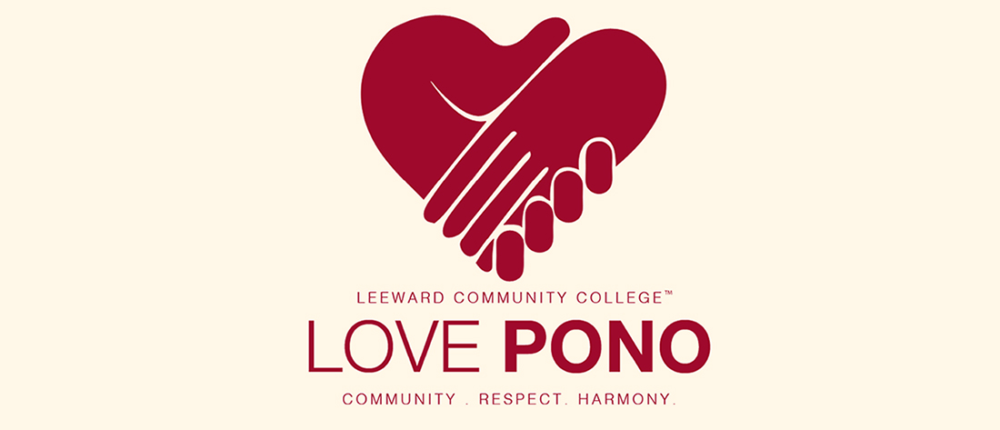 Love Pono logo--two hands forming a heart