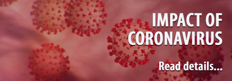 Impact of Coronavirus Read details - over images of the virus