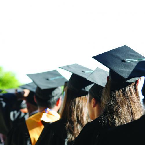 Row of graduates