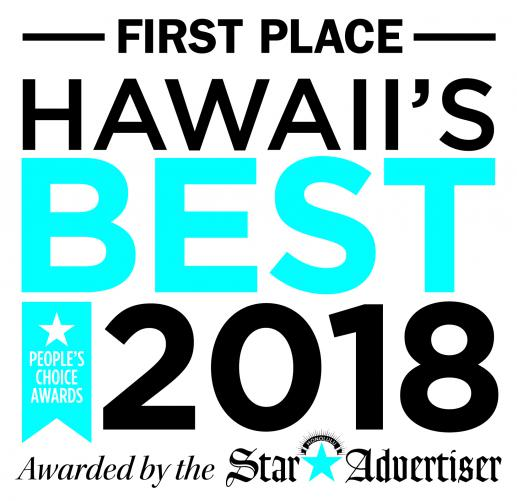 First Place Hawaii's Best 2018 Awarded by the Star Advertiser