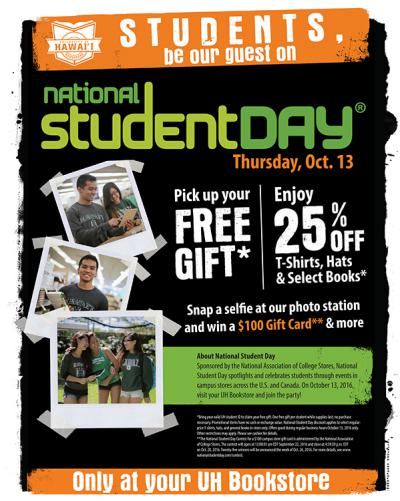 National Student Day Flyer - all info contained in following article