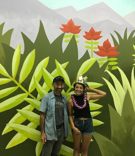 Mike Harada and student Sasha Lee