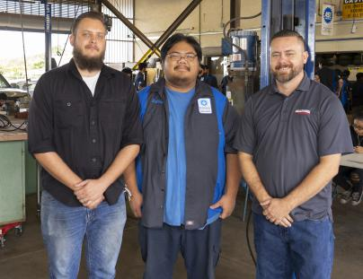 L - R. Kevin O'Neill, Kelvin Tso, and Jeremy Heen, Grainger Branch Network Manager