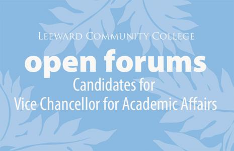 Open Forums for Candidates for Vice Chancellor