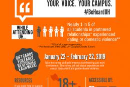 infographic on Campus Climate survey