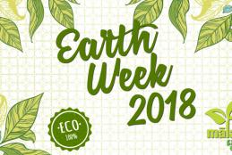 Earth Week 2018 100% ECO, Malama Aina Leeward; bordered by green leaves