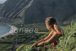 "Cover of the SUmmer 201 issue of Ka Manao, ""Senses"""