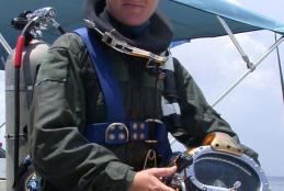 Moniz in scuba gear