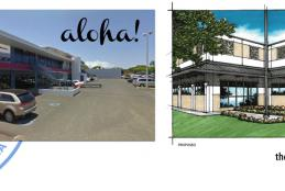 photo of Farrington location and rendering of new location in Maili