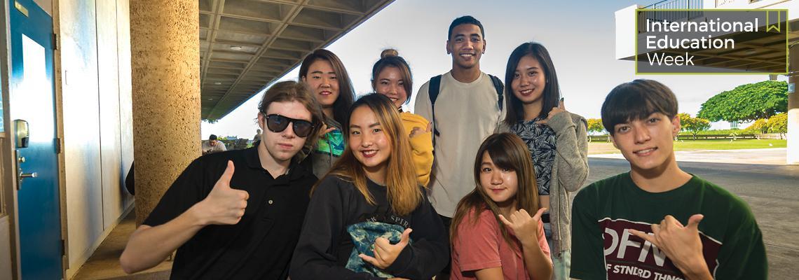 Groupf of International students at Leeward