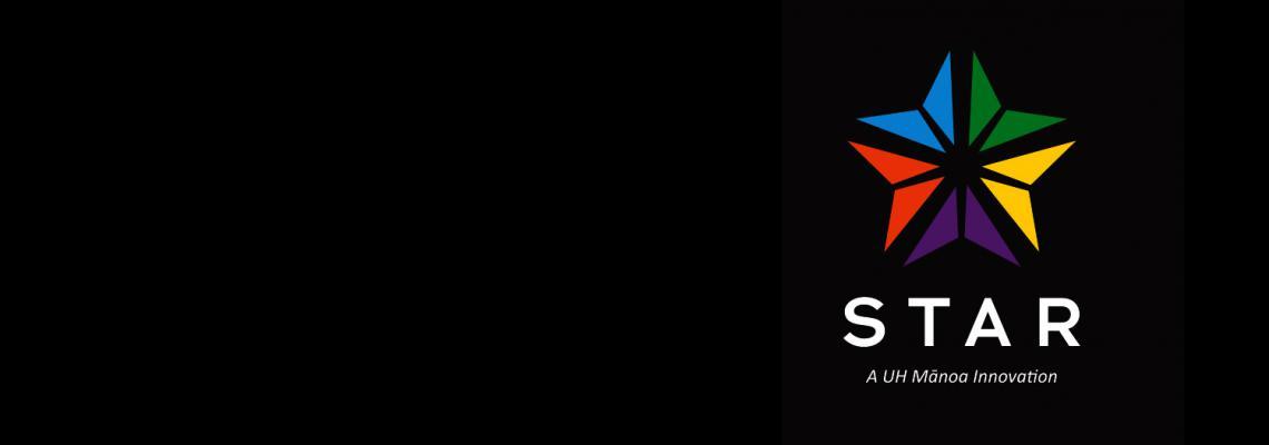 STAR logo on blakc