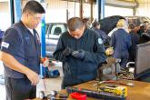 Youth Challenge students explore equipment and engines