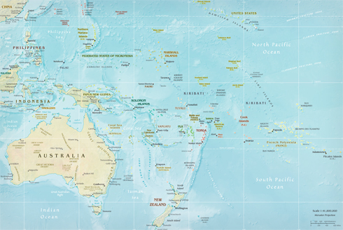 map of the pacific region of the world