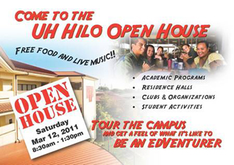 flier for UH Hilo open house