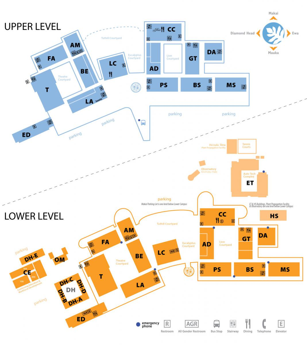 Leeward Community College Map Map and Directions | Leeward Community College Leeward Community College Map