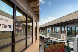 image of Welcome Center exterior from two views