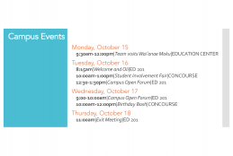 Accreditation Campus Events